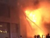 8 سيارات إطفاء تسيطر على حريق مخزن كراسى فى الوراق دون إصابات