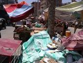 بالصور.. الباعة الجائلون يحتلون شوارع أجا بالدقهلية رغم تخصيص أماكن لهم