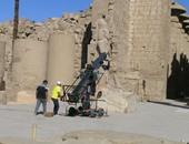 """بالصور.. تصوير مشاهد خارجية من فيلم """"ما لا تعرفه عن بهية"""" بمعبد الكرنك بالأقصر"""