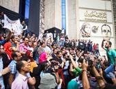 """""""المواطنين الشرفاء""""يصلون محيط نقابة الصحفيين ويرددون السباب بحق المعتصمين"""