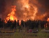 حريق الغابات فى كندا ينتشر مع ارتفاع درجات الحرارة