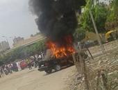 السيطرة على حريق نشب بسيارة ملاكى أعلى كوبرى الاستاد بمدينة طنطا