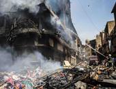 النيابة تتلقى 129 محضرًا من متضررى حريق سوق الرويعى بالعتبة