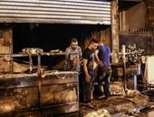إصابة 3 عمال في حريق داخل محل كشرى بالشرقية