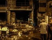 """الحماية المدنية بالجيزة تسيطر على حريق بـ""""محل كبابجى"""" فى أرض اللواء"""