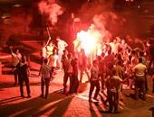 """بالفيديو والصور.. الإخوان يتظاهرون فى """"عبد المنعم رياض"""" وتعطل حركة المرور"""