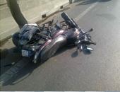 إصابة شاب فى حادث مرورى بالمنوفية