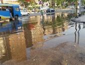 """""""واتس آب اليوم السابع"""": مياه صرف حمامات سباحة نادى الزمالك تغرق ميدان سفنكس"""