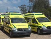 3 سيارات إسعاف جديدة تنضم للعمل بمطار القاهرة الدولى