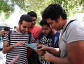 توافد طلاب الثانوية على معامل جامعة دمنهور لتسجيل رغباتهم إلكترونيًا