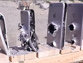 """بالفيديو.. شاهد كم هاتف """"آى فون"""" تحتاجه لإيقاف طلقة """"كلاشينكوف"""""""