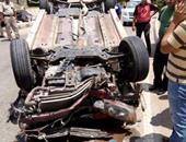 مصرع عامل وإصابة 3 بحادث انقلاب سيارة بالبحيرة
