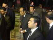 بالصور.. المشير طنطاوى يصل عزاء النائب العام وحمدى بدين يؤدى التحية العسكرية له