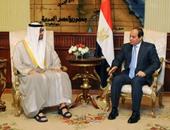 """محمد بن زايد يجدد لـ""""السيسى"""" موقف الإمارات الداعم لمصر سياسيا واقتصاديا"""