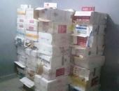 ضبط سلع غذائية منتهية الصلاحية و250 علبة سجائر مجهولة المصدر فى دمياط