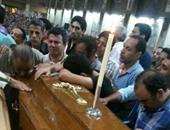 الكنيسة تقيم صلاة جنازة ضحايا حادث الأتوبيس على طريق القاهرة الإسماعيلية