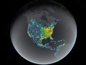 خريطة صادمة تكشف حجم التلوث الضوئى فى جميع أنحاء العالم