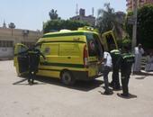 إصابة 12 شخصا فى انقلاب سيارة ميكروباص بطريق الزعفرانة - غارب