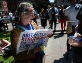 الآلاف يشاركون فى مسيرة بلندن احتجاجا على نتيجة استفتاء بريطانيا