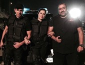 ياسمين عبد العزيز تنشر صورة من كواليس فيلمها الجديد على إنستجرام