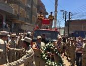 الدقهلية تنتظر وصول جثمان شهيد سيناء أمين الشرطة عبد المنعم الحنفى