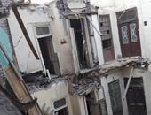 انهيار جزء من عقار سكنى فى كرموز بالإسكندرية دون إصابات