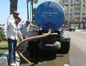 انقطاع المياه عن قرى مركز إهناسيا ببنى سويف لحدوث كسر فى ماسورة رئيسية