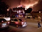 صحافة المواطن: بالصور.. حريق فى أكاديمية الفنون بشارع الهرم