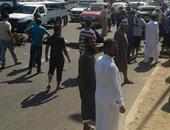 بالصور.. صيادو البرلس يقطعون الطريق الدولى بكفر الشيخ اعتراضا على حملة الإزالات