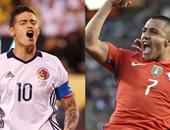 كوبا أمريكا.. التشكيل الرسمى لمباراة كولومبيا وتشيلى