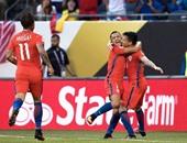 كوبا أمريكا.. تشيلى تخطف كولومبيا بثنائية فى الشوط الأول