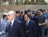 """بالصور.. رؤساء """"القضاء الأعلى"""" والنقض يتقدمون جنازة المستشار عبد الله حامد"""