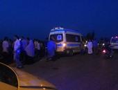 إصابة 3 طلاب فى انقلاب دراجة بخارية على طريق بني سويف - الفيوم