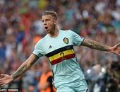يورو 2016.. رأسية الدرفايريلد تمنح بلجيكا التقدم على المجر بالشوط الأول
