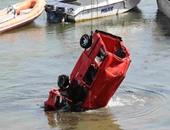 النيابة تنتقل لمعاينة موقع سقوط سيارة فى النيل أعلى كوبرى الساحل