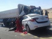 مصرع 4 عمال نظافة وإصابة 10 فى انقلاب سيارة نقل بطريق بلبيس –العبور