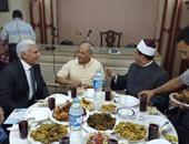 بالصور.. مراد موافى رئيس المخابرات الأسبق يظهر فى إفطار الصوفية