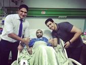 أبو هشيمة يقدم العزاء فى وفاة الشاب عبد الرحمن مريض السرطان ببنى سويف