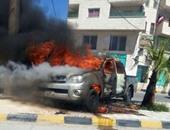 السيطرة على حريق بسيارة ملاكى بالفيوم دون إصابات