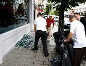 بالفيديو..بكاء وفزع بين المتواجدين فى مطار أتاتورك التركي بعد انفجار ضخم
