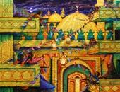 بالصور.. فنانون تشكيليون يصورون فرحة المصريين بقدوم شهر رمضان داخل لوحاتهم