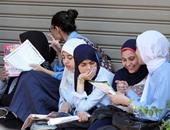 امتحان الإحصاء يرسم البسمة على وجوه طلاب الثانوية  العامة فى المنوفية