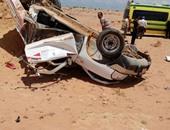 إصابة شخص نتيجة انقلاب سيارة ملاكى فى الشيخ زايد