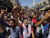 بالصور.. آلاف المتظاهرين فى الأردن يطالبون بإلغاء معاهدة السلام مع إسرائيل