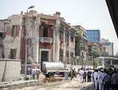 بالفيديو...شاهد تداعيات الانفجار أمام القنصلية الإيطالية والوضع بوسط القاهرة