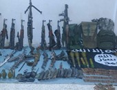 ننشر صورة الأسلحة والذخائر المضبوطة بحوزة الإرهابيين فى سيناء