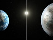 """بالصور.. لأول مرة فى تاريخ الإنسانية.. """"ناسا"""" تكتشف كوكبا يشبه الأرض وتؤكد: فرصة كبيرة لبدء حياة جديدة على سطحه.. """"كيبلر"""" يتميز بنفس درجة حرارة الأرض ويكبرها بـ60%.. ومداره 385 يوما وعمره 6مليارات سنة"""