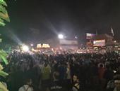 قوات الأمن أمام نادى الزمالك لتأمين احتفالات الجماهير البيضاء