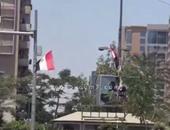 """بالفيديو.. علم مصر يزين شوارع مدينة نصر وميدان""""هشام بركات"""" احتفالا بقناة السويس"""