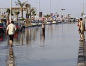 بالصور..تكدس مرورى بالمحور نتيجة انفجار ماسورة مياه أمام هايبر الشيخ زايد